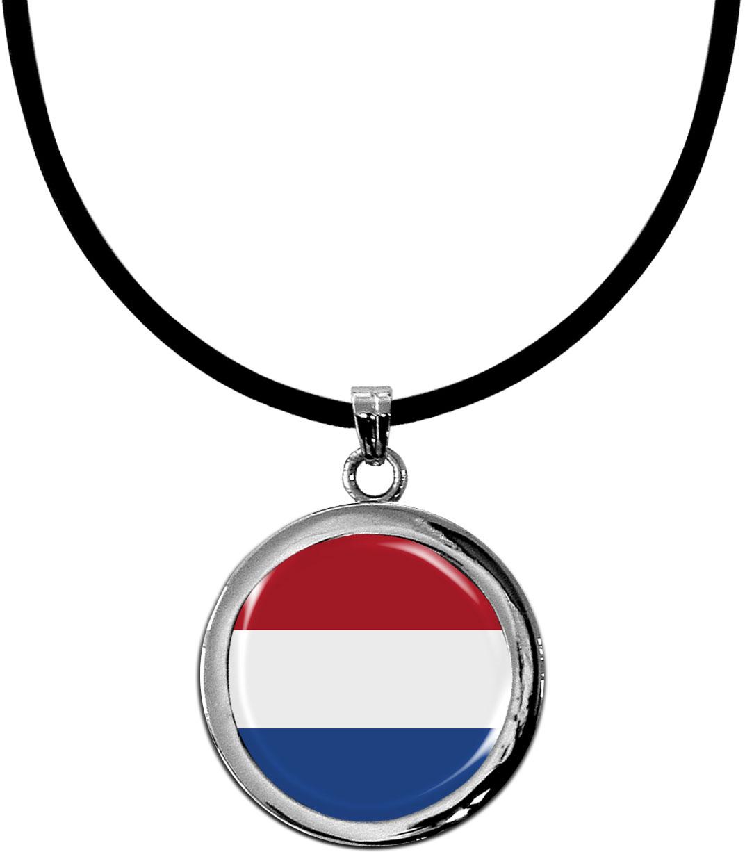 Kettenanhänger / Niederlande / Silikonband mit Silberverschluss