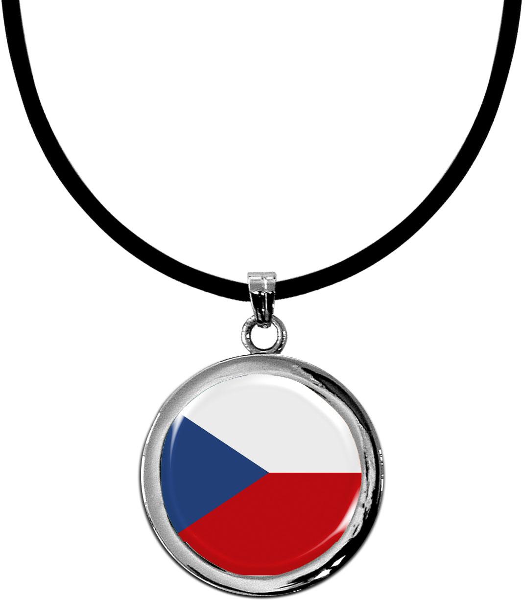 Kettenanhänger / Tschechien / Silikonband mit Silberverschluss