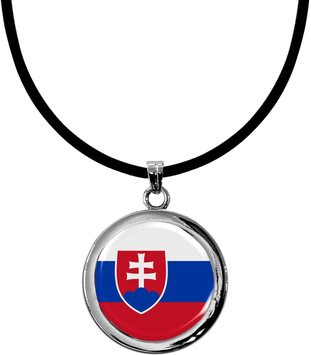Kettenanhänger / Slowakien / Silikonband mit Silberverschluss
