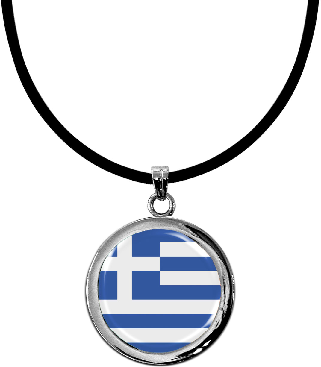 Kettenanhänger / Albanien / Silikonband mit Silberverschluss