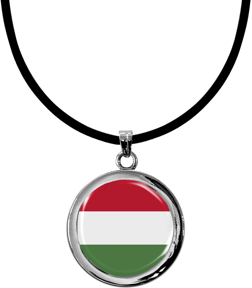 Kettenanhänger / Ungarn / Silikonband mit Silberverschluss