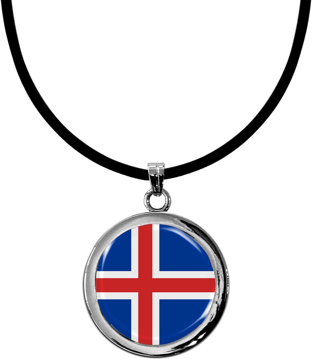 Kettenanhänger / Island / Silikonband mit Silberverschluss