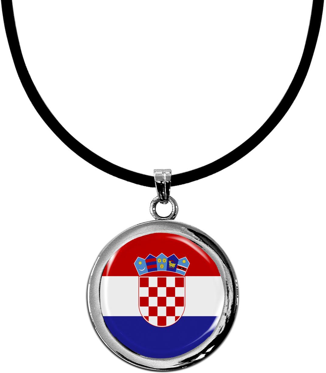 Kettenanhänger / Kroatien / Silikonband mit Silberverschluss