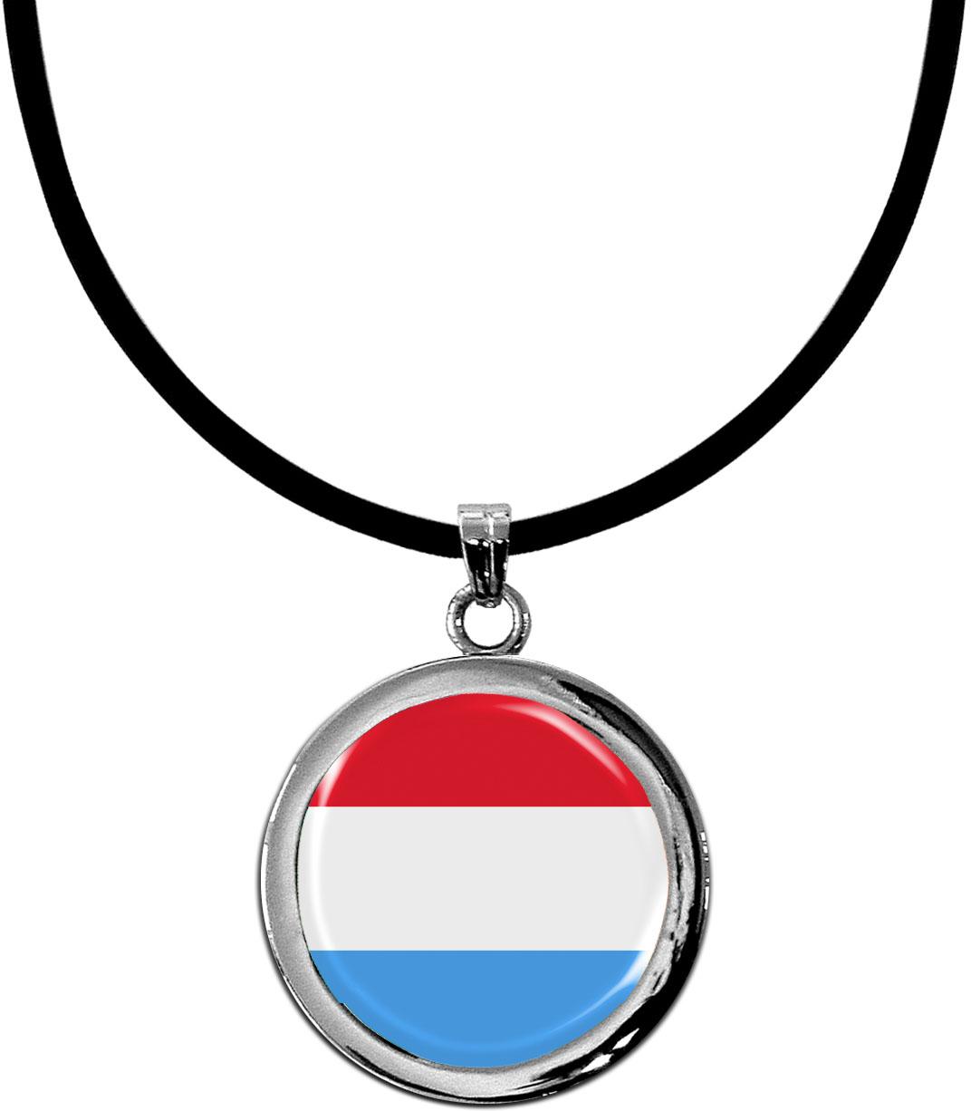 Kettenanhänger / Luxemburg / Silikonband mit Silberverschluss