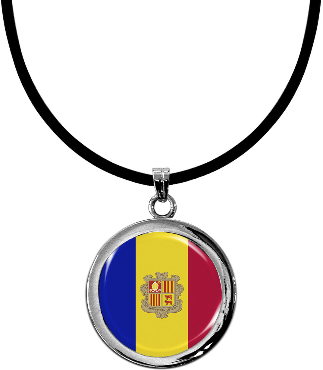 Kettenanhänger / Andorra / Silikonband mit Silberverschluss