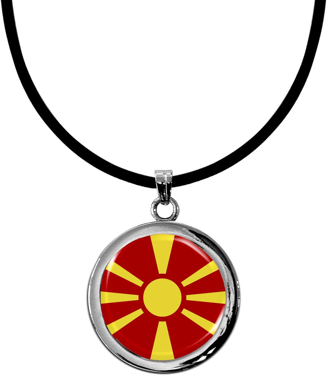 Kettenanhänger / Mazedonien / Silikonband mit Silberverschluss