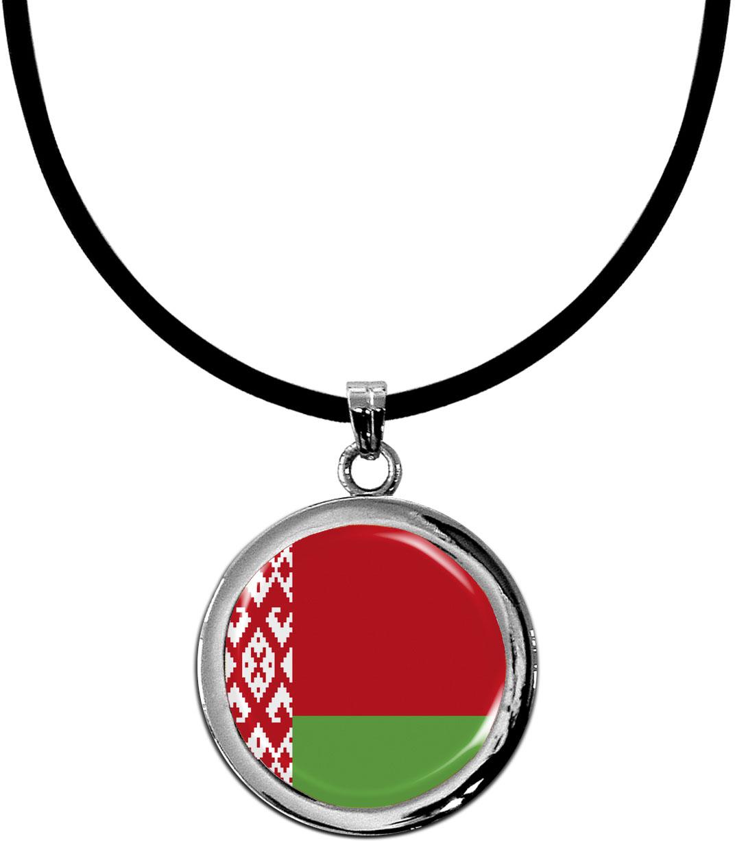 Kettenanhänger / Weißrussland / Silikonband mit Silberverschluss