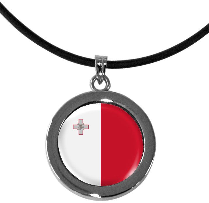 Kettenanhänger / Malta / Silikonband mit Silberverschluss