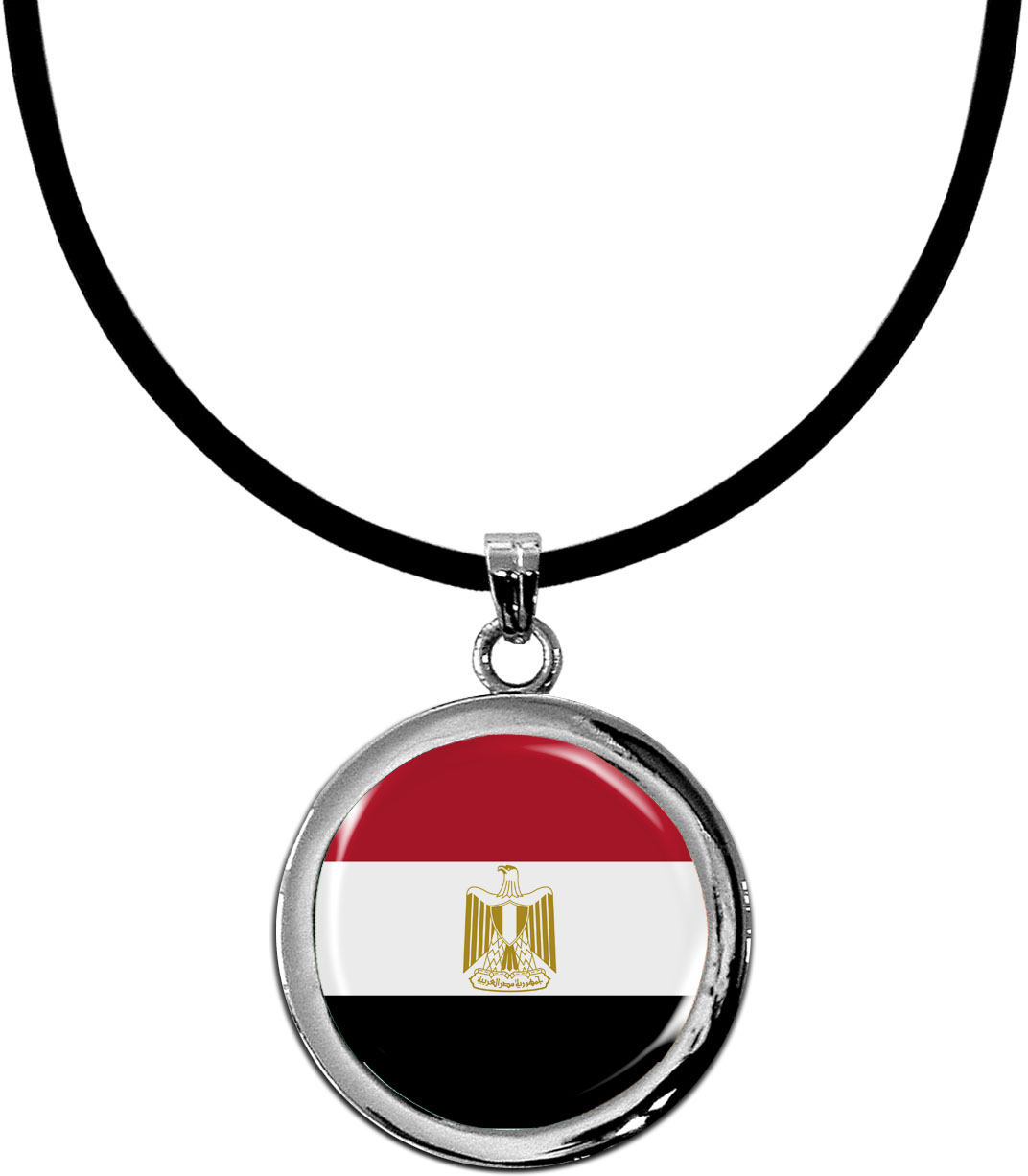 Kettenanhänger / Ägypten / Silikonband mit Silberverschluss