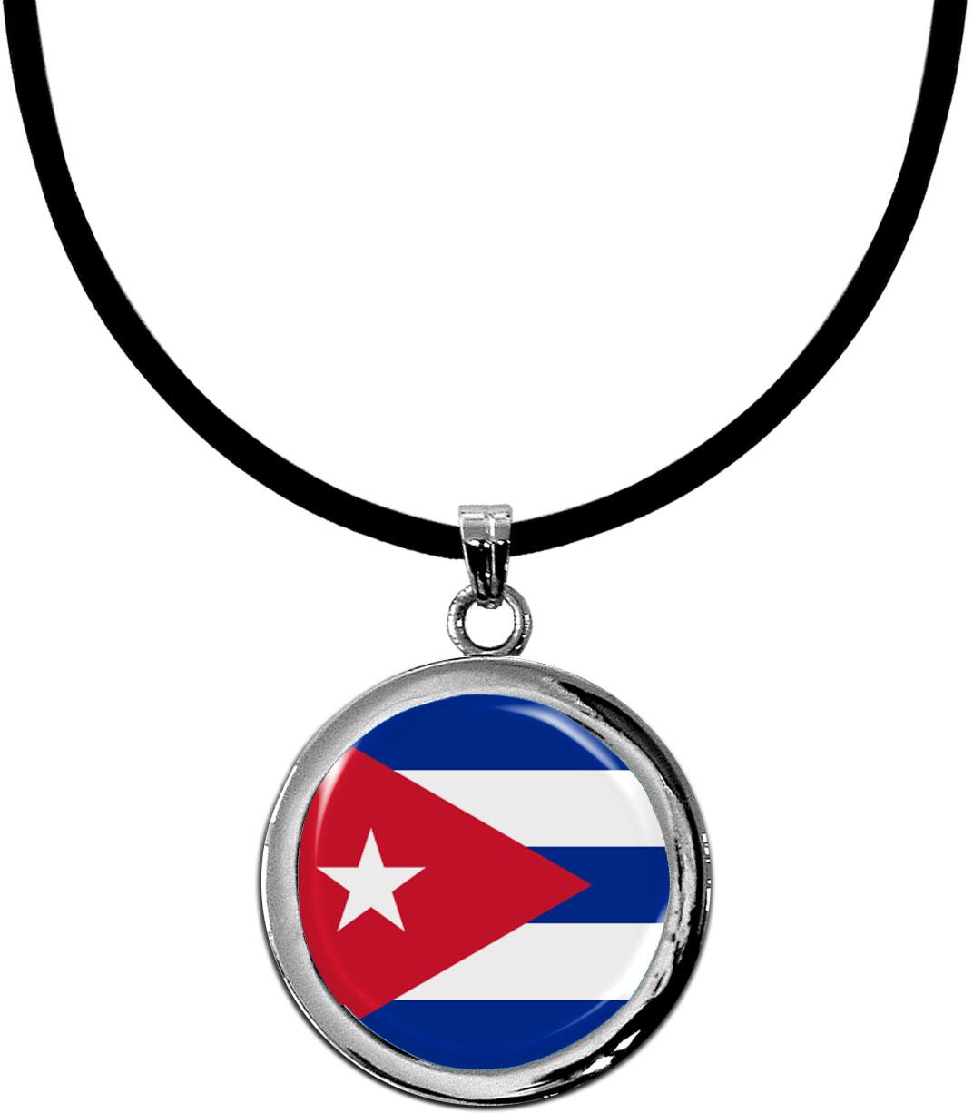 Kettenanhänger / Kuba / Silikonband mit Silberverschluss