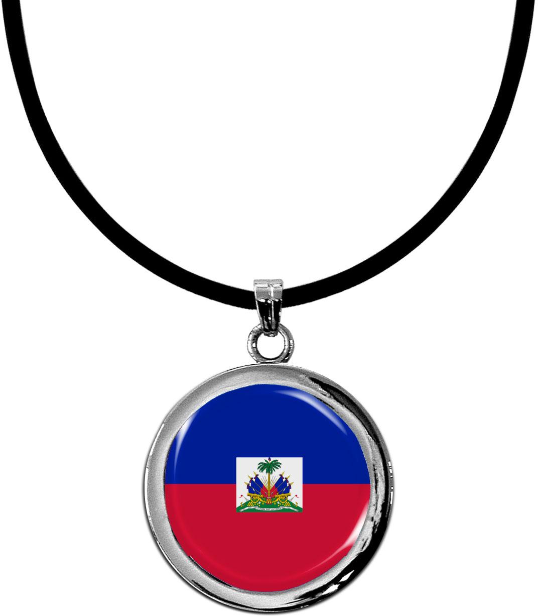 Kettenanhänger / Haiti / Silikonband mit Silberverschluss
