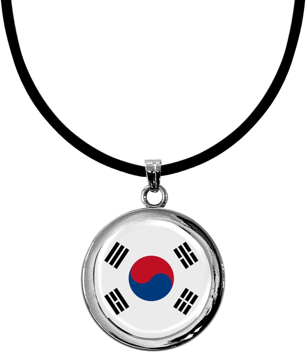 Kettenanhänger / Südkorea / Silikonband mit Silberverschluss