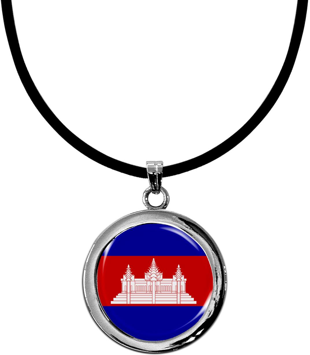 Kettenanhänger / Kambodscha / Silikonband mit Silberverschluss