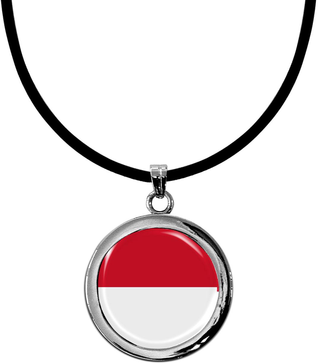 Kettenanhänger / Indonesien / Silikonband mit Silberverschluss