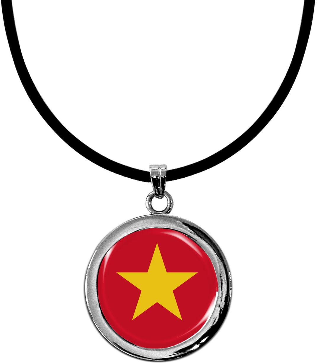 Kettenanhänger / Vietnam / Silikonband mit Silberverschluss