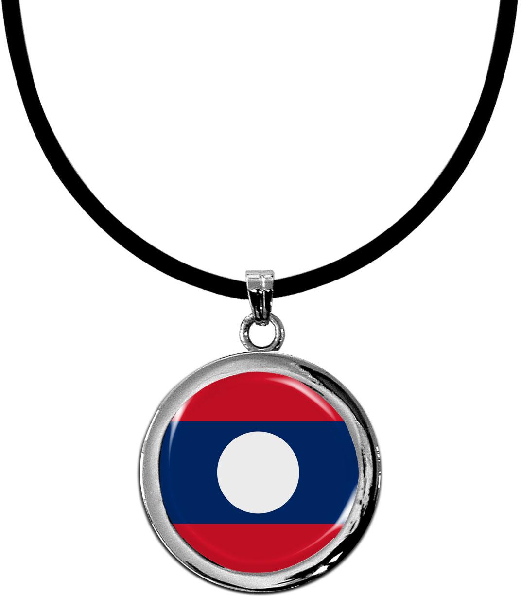 Kettenanhänger / Laos / Silikonband mit Silberverschluss