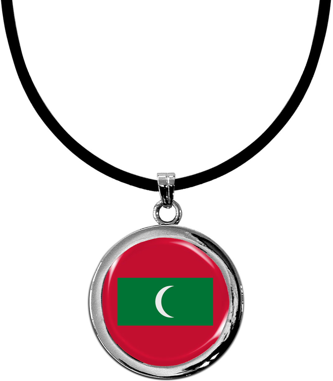 Kettenanhänger / Malediven / Silikonband mit Silberverschluss