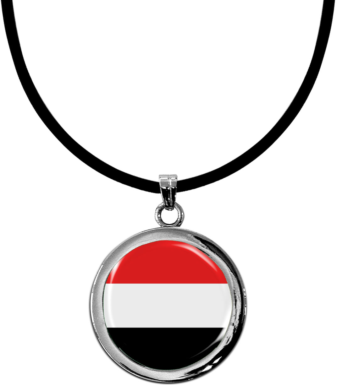 Kettenanhänger / Jemen / Silikonband mit Silberverschluss