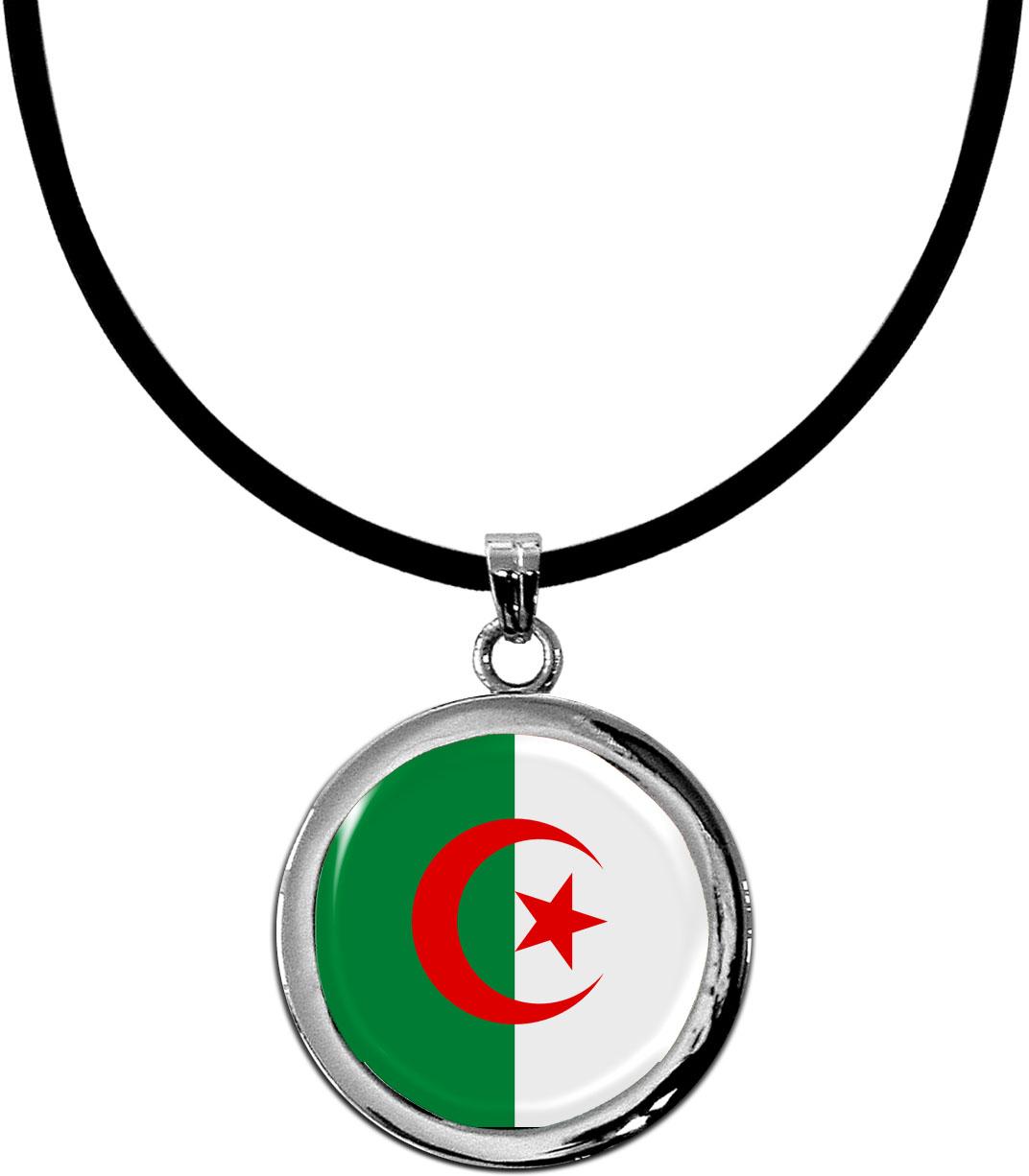 Kettenanhänger / Algerien / Silikonband mit Silberverschluss