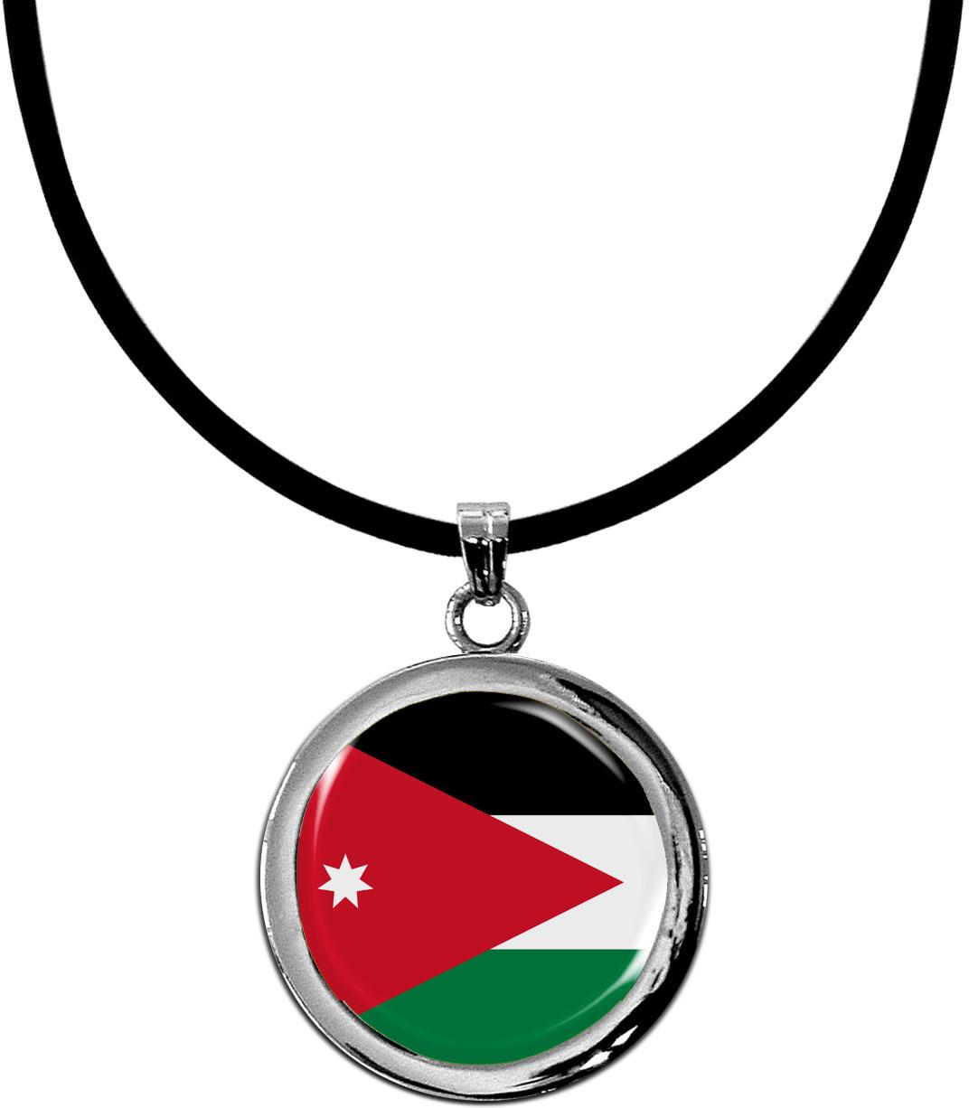 Kettenanhänger / Jordanien / Silikonband mit Silberverschluss
