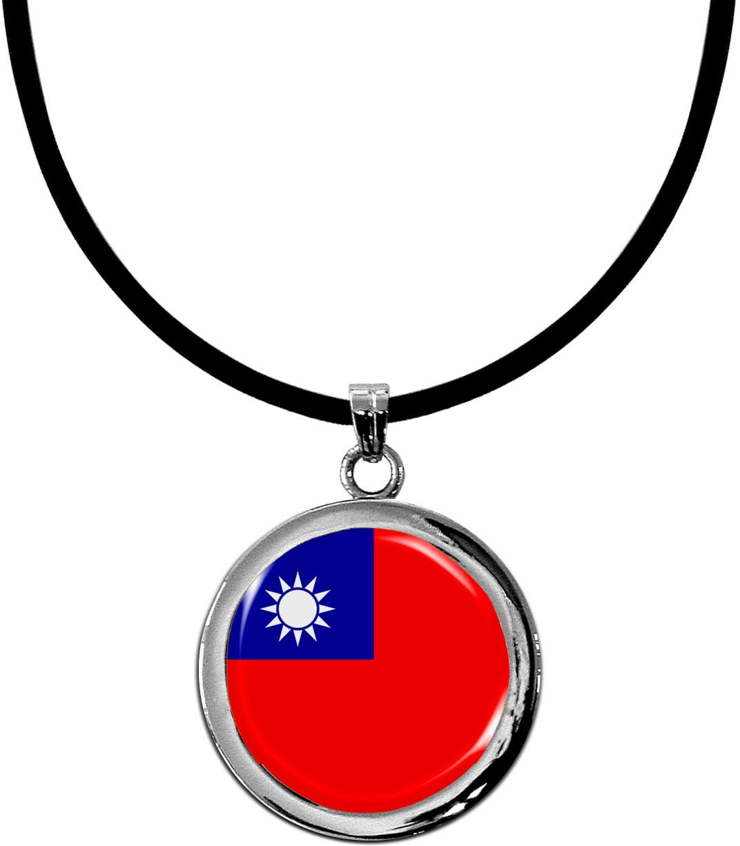 Kettenanhänger / Taiwan / Silikonband mit Silberverschluss
