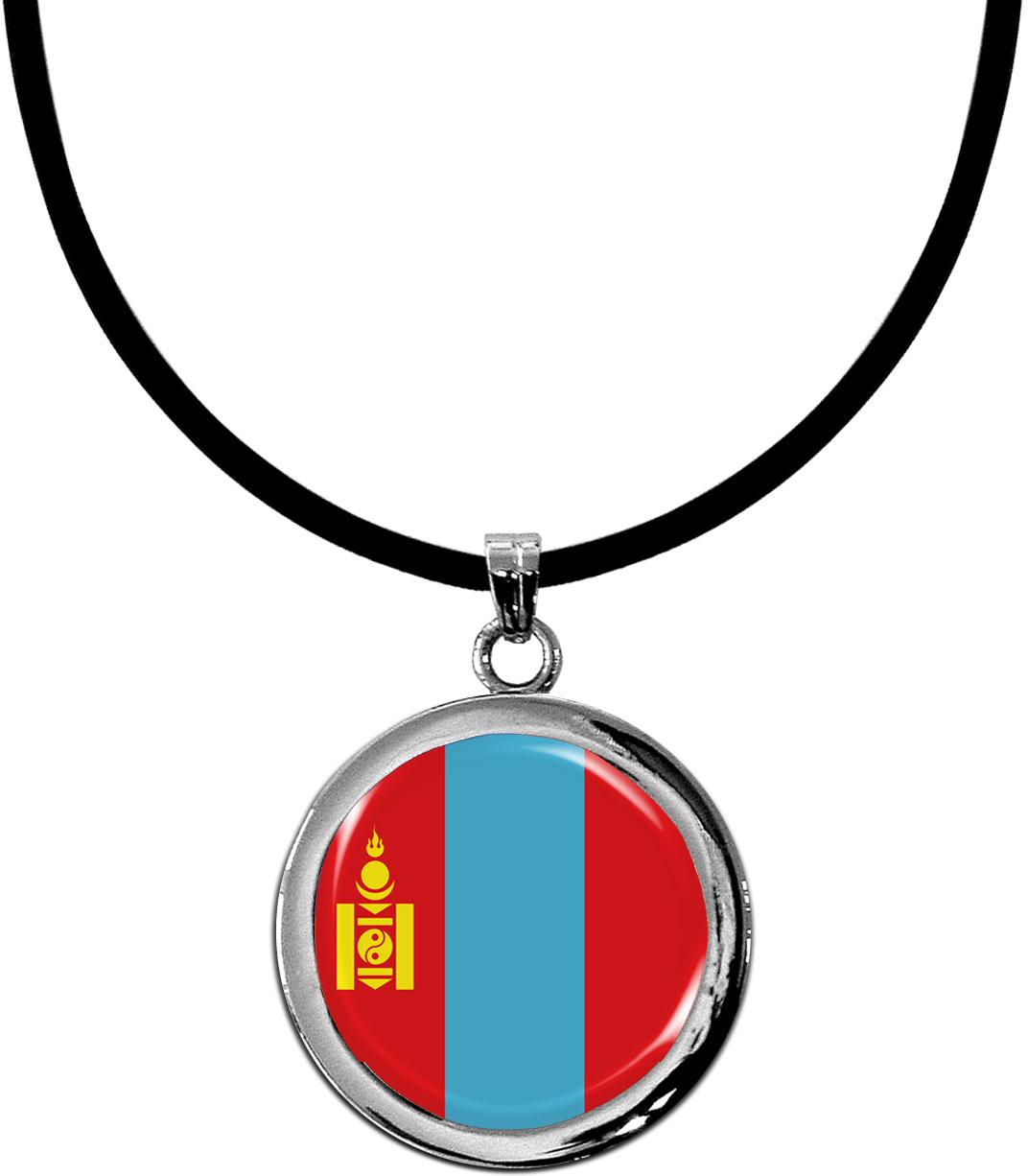 Kettenanhänger / Mongolei / Silikonband mit Silberverschluss