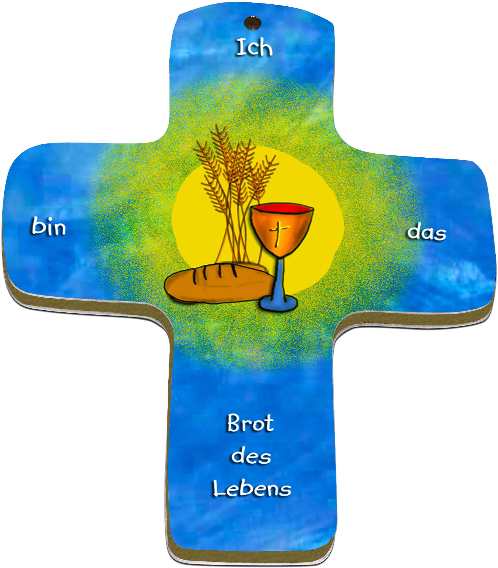 "metALUm Premium Wandkreuze ""Brot des Lebens"""
