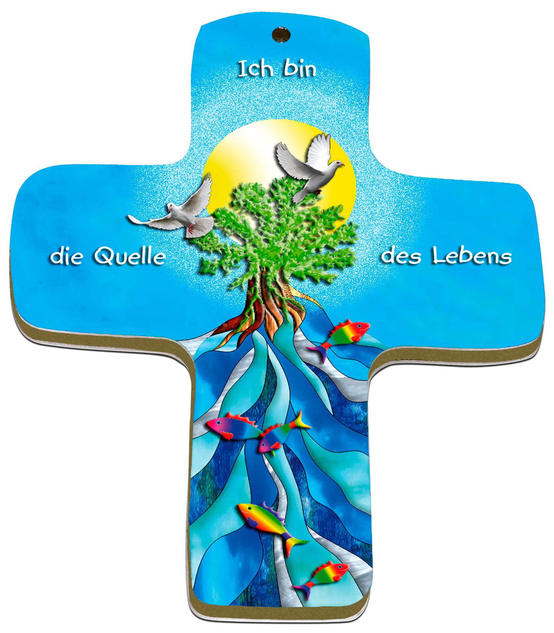 """metALUm Premium Wandkreuze """"Quelle des Lebens"""""""