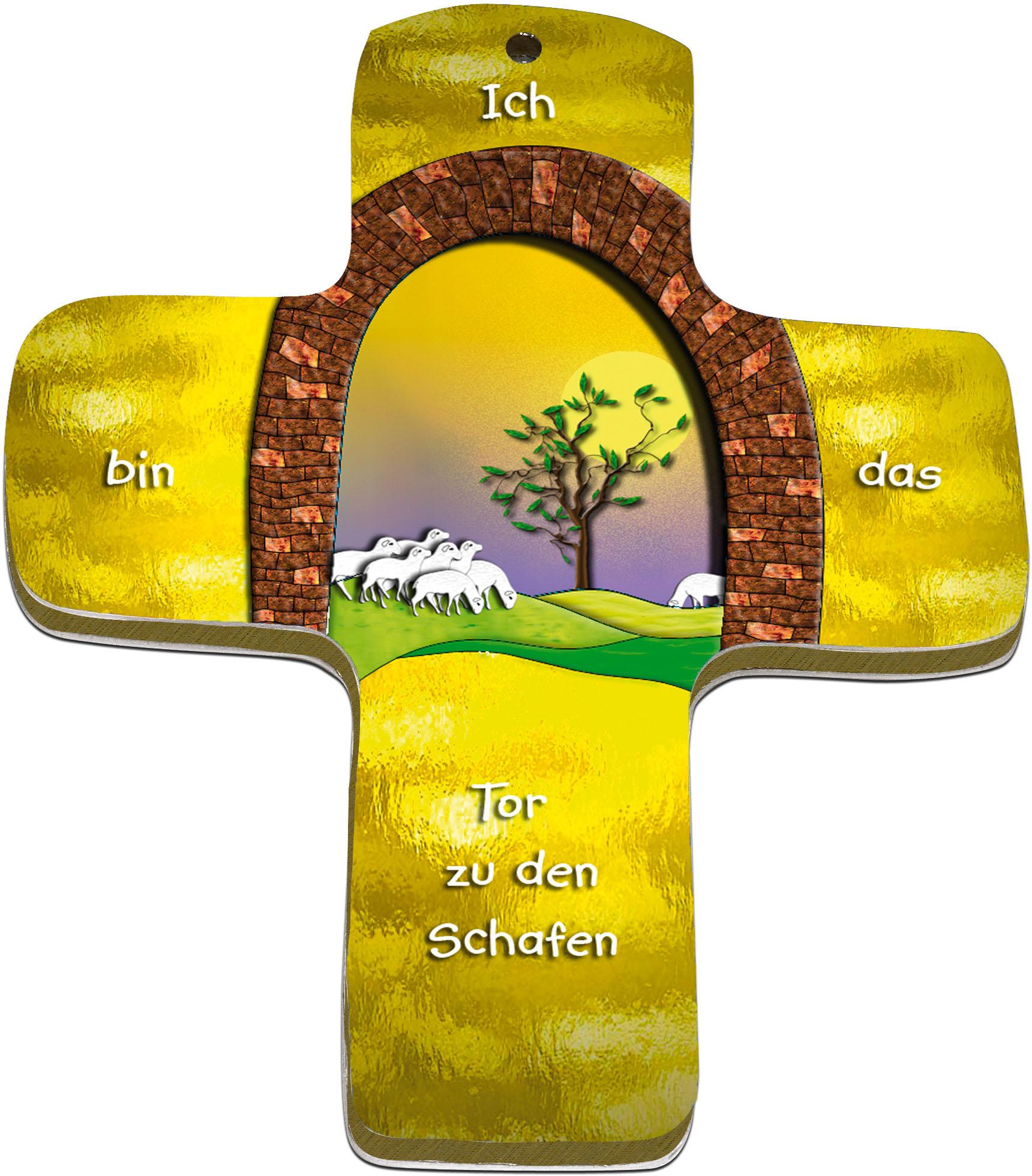 """metALUm Premium Wandkreuze """"Schafe"""""""