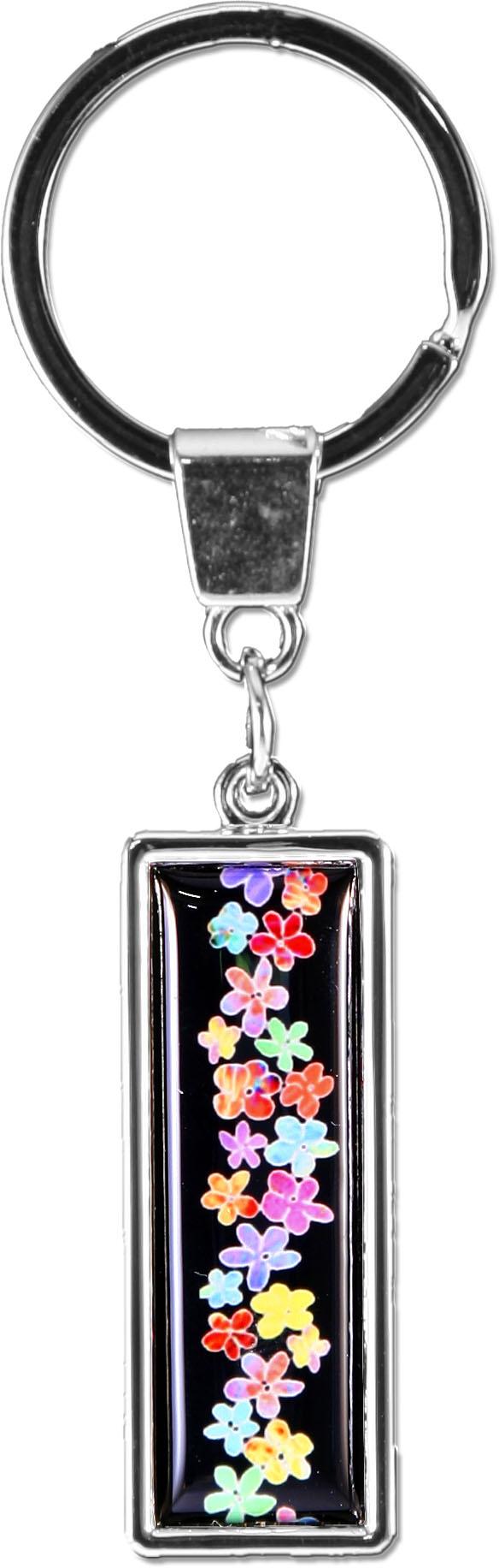"""metALUm Schlüsselanhänger in gerader Form """"Kleine Blüten"""""""