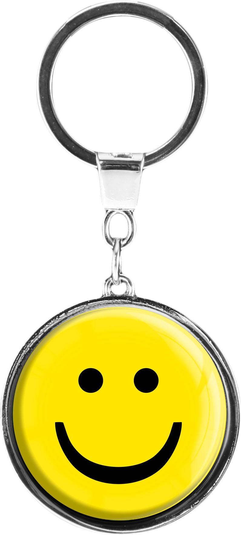 """metALUm Schlüsselanhänger in runder Form """"Smiley"""""""