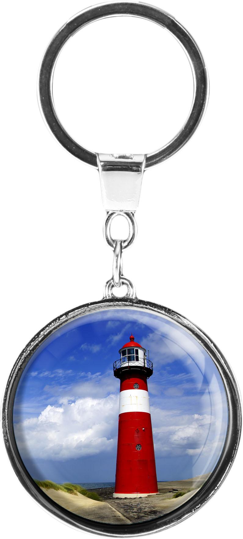 "metALUm Schlüsselanhänger in runder Form ""Leuchtturm"""