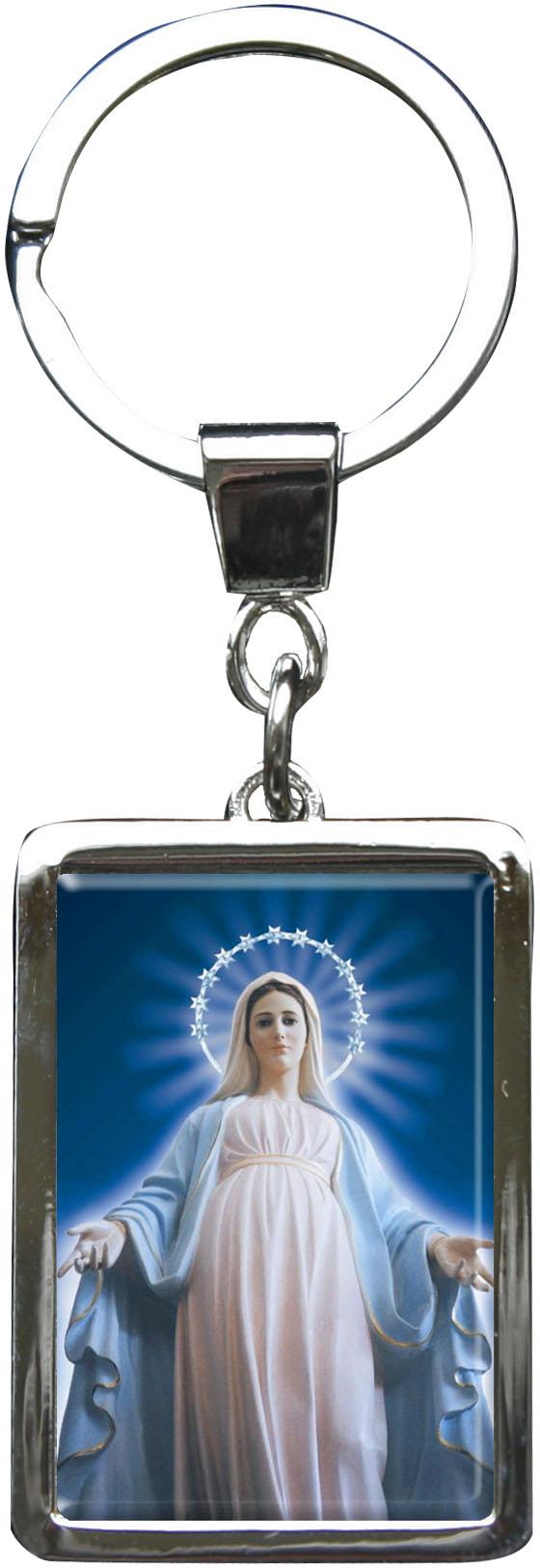 """metALUm Schlüsselanhänger in Rechteck - Form """"Jungfrau Maria"""""""