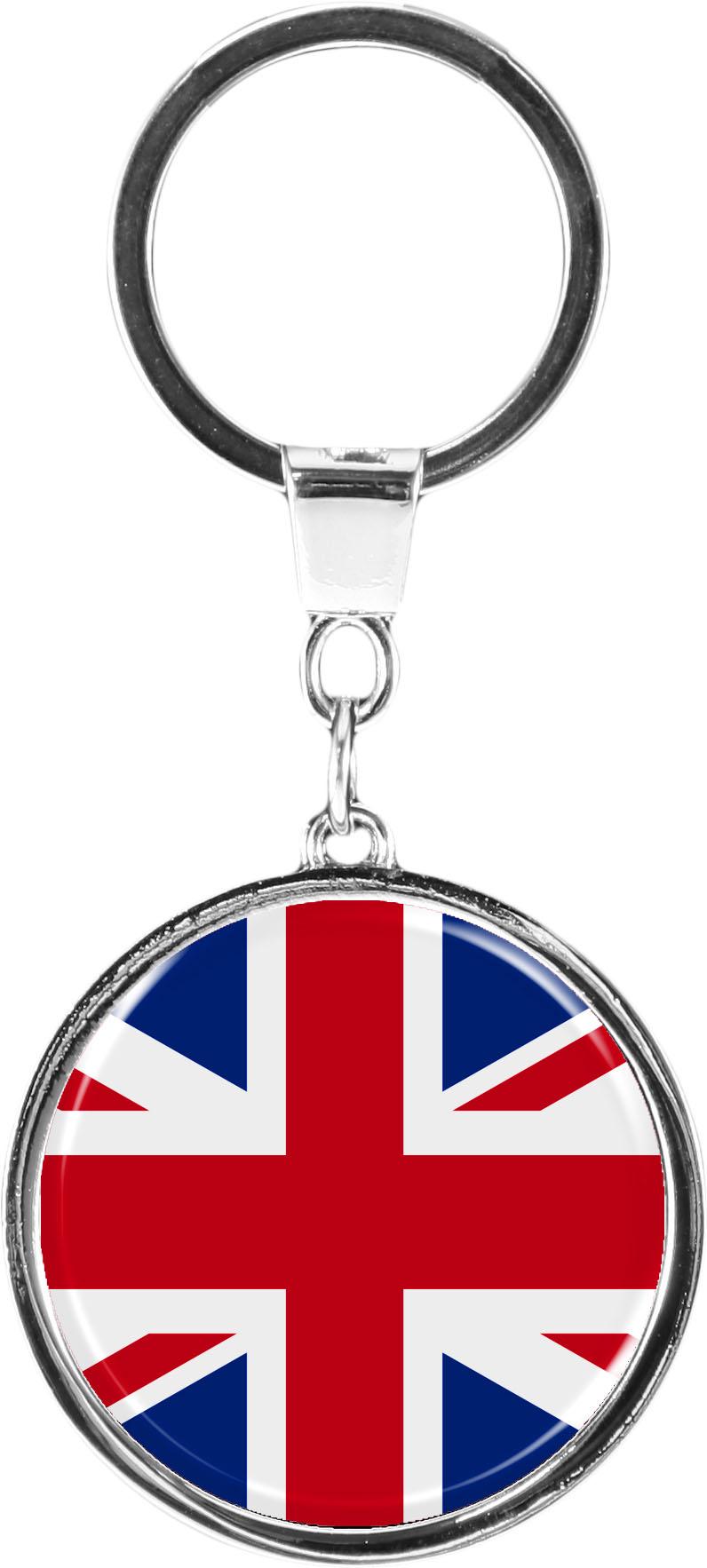 """metALUm Schlüsselanhänger in runder Form """"Flagge Großbritannien"""""""