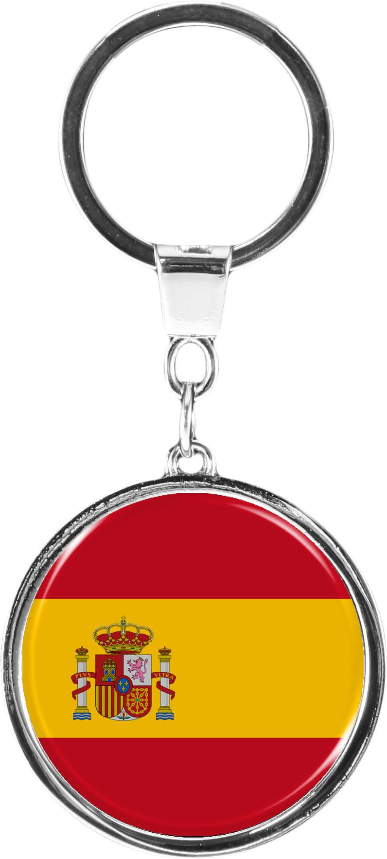 """metALUm Schlüsselanhänger in runder Form """"Flagge Spanien"""""""