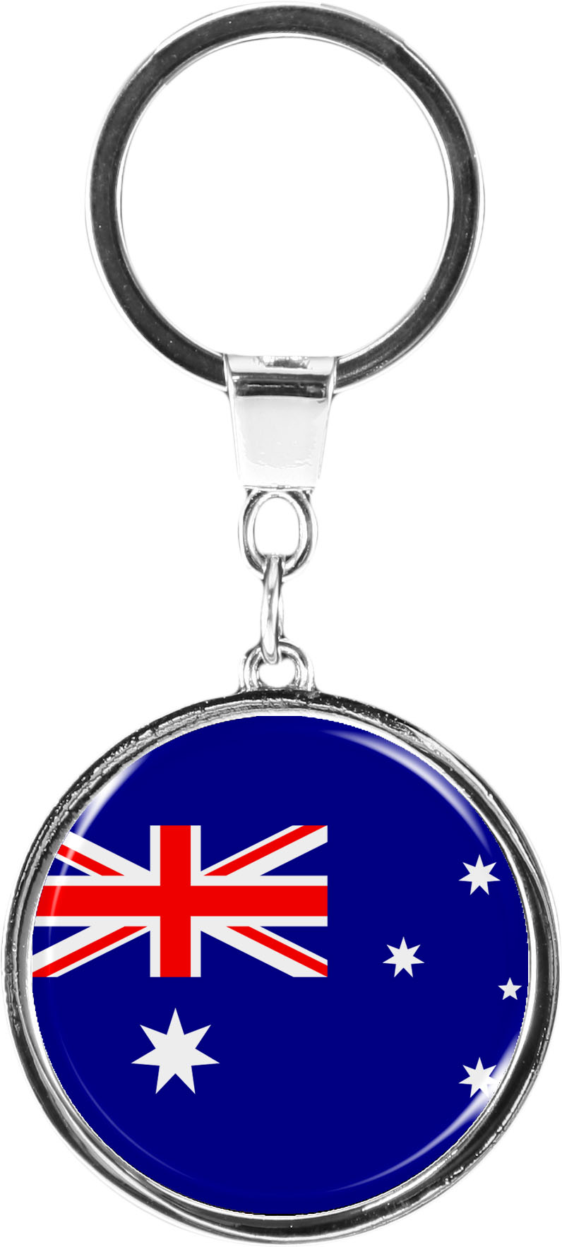 """metALUm Schlüsselanhänger in runder Form """"Flagge Australien"""""""