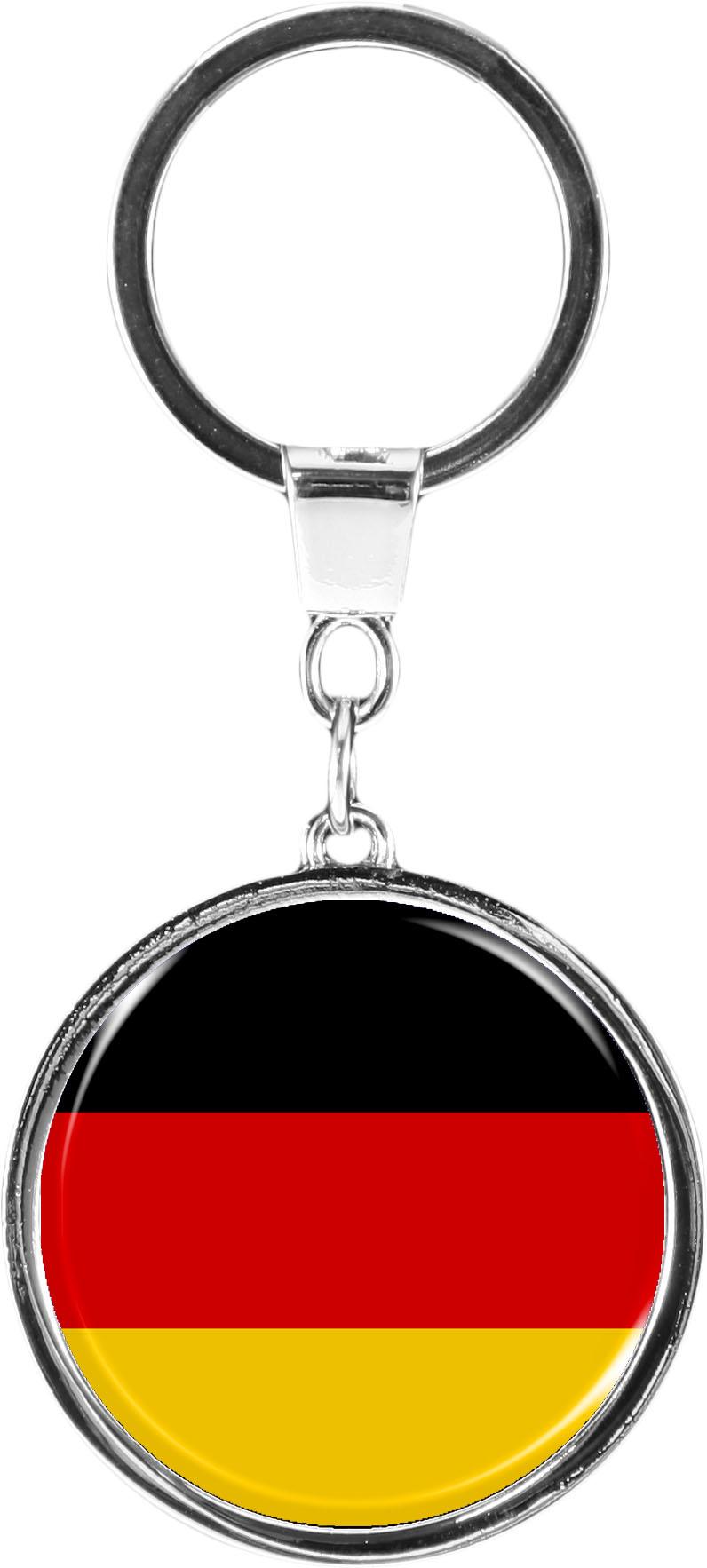 """metALUm Schlüsselanhänger in runder Form """"Flagge Deutschland"""""""