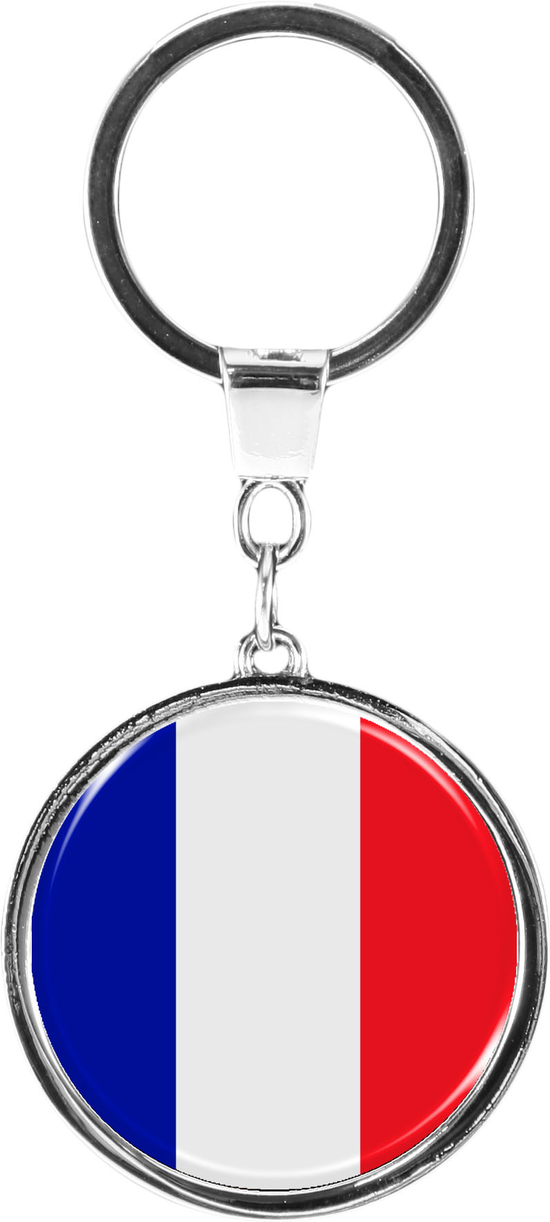 """metALUm Schlüsselanhänger in runder Form """"Flagge Frankreich"""""""