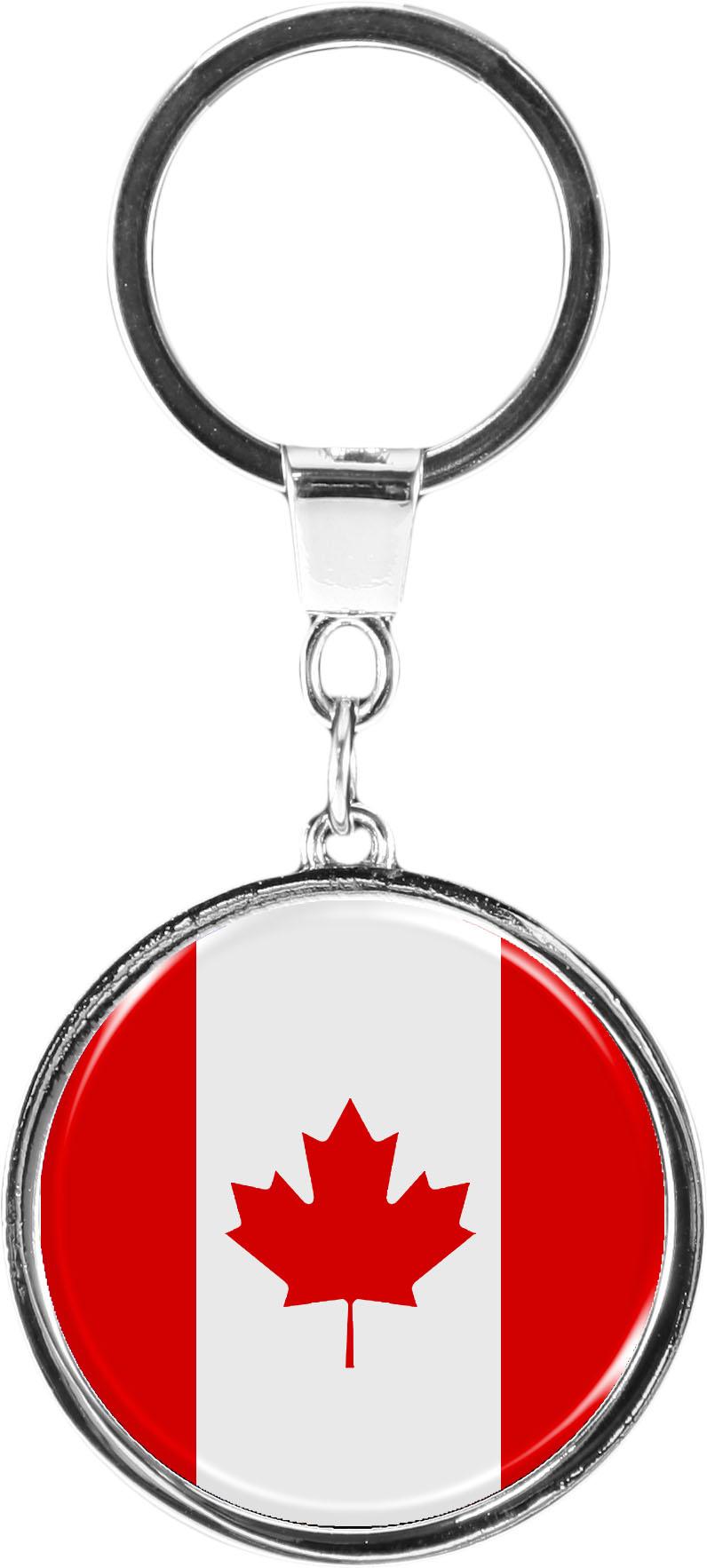 "metALUm Schlüsselanhänger in runder Form ""Flagge Kanada -"""