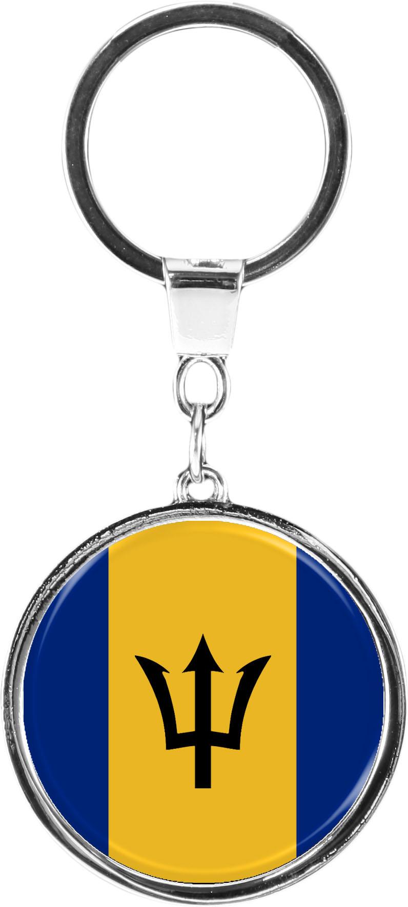 "metALUm Schlüsselanhänger in runder Form ""Flagge Barbados"""
