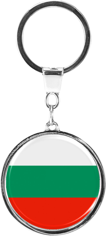 "metALUm Schlüsselanhänger in runder Form ""Flagge Bulgarien"""