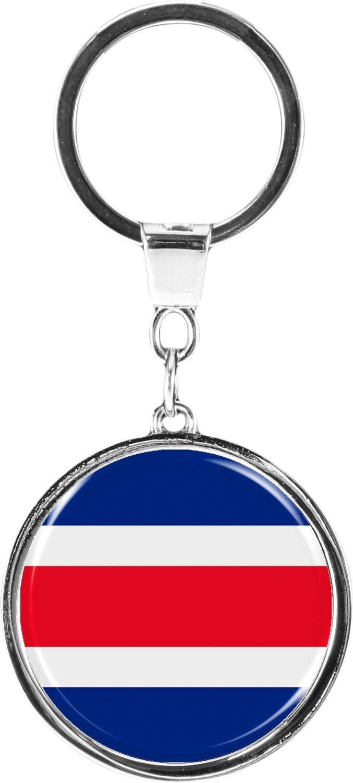 "metALUm Schlüsselanhänger in runder Form ""Flagge Costa Rica"""