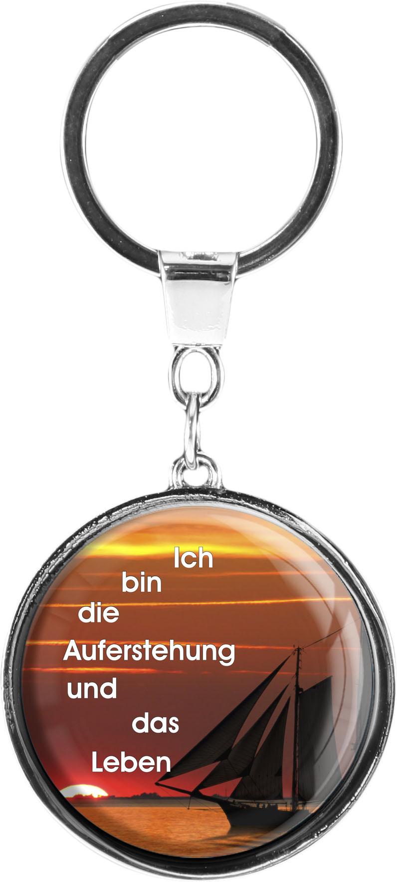 "metALUm Schlüsselanhänger in runder Form ""Segelboot"""