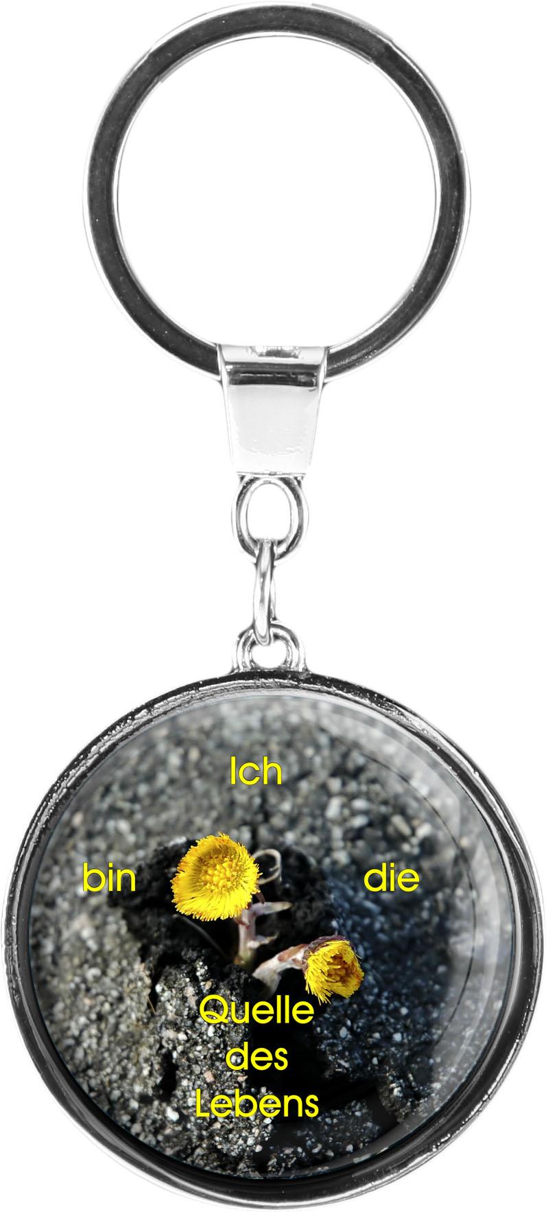 """metALUm Schlüsselanhänger in runder Form """"Blume"""""""