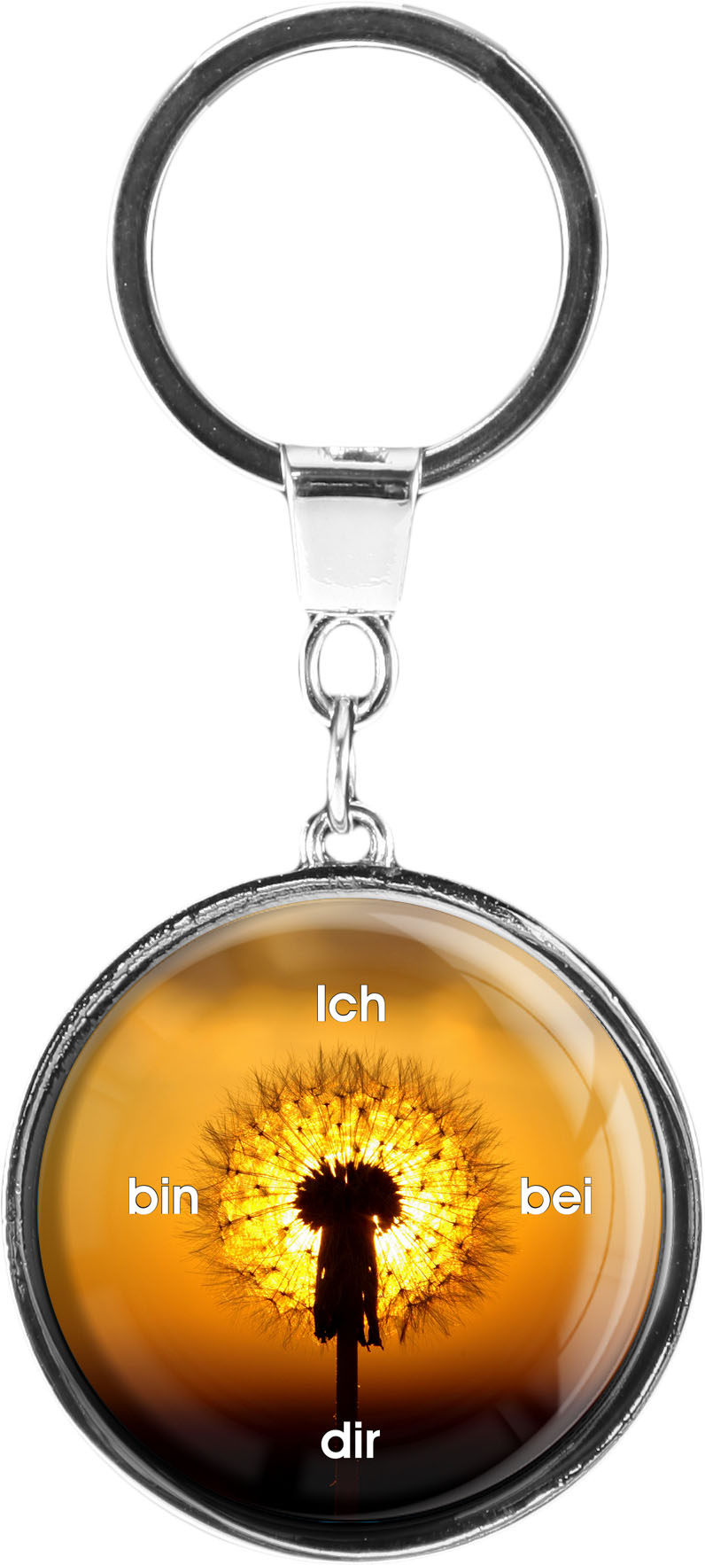 "metALUm Schlüsselanhänger in runder Form ""Pusteblume"""