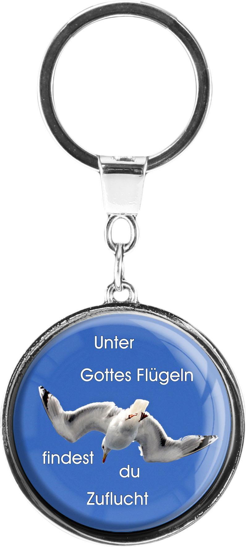 "metALUm Schlüsselanhänger in runder Form ""Möwe"""