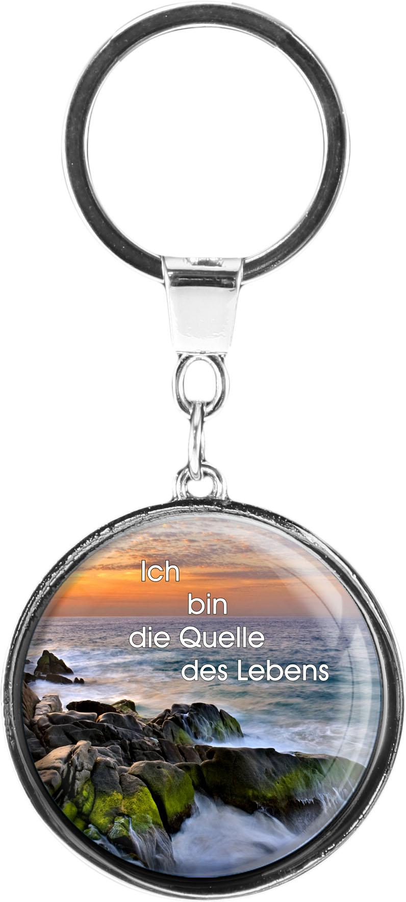 "metALUm Schlüsselanhänger in runder Form ""Brandung"""