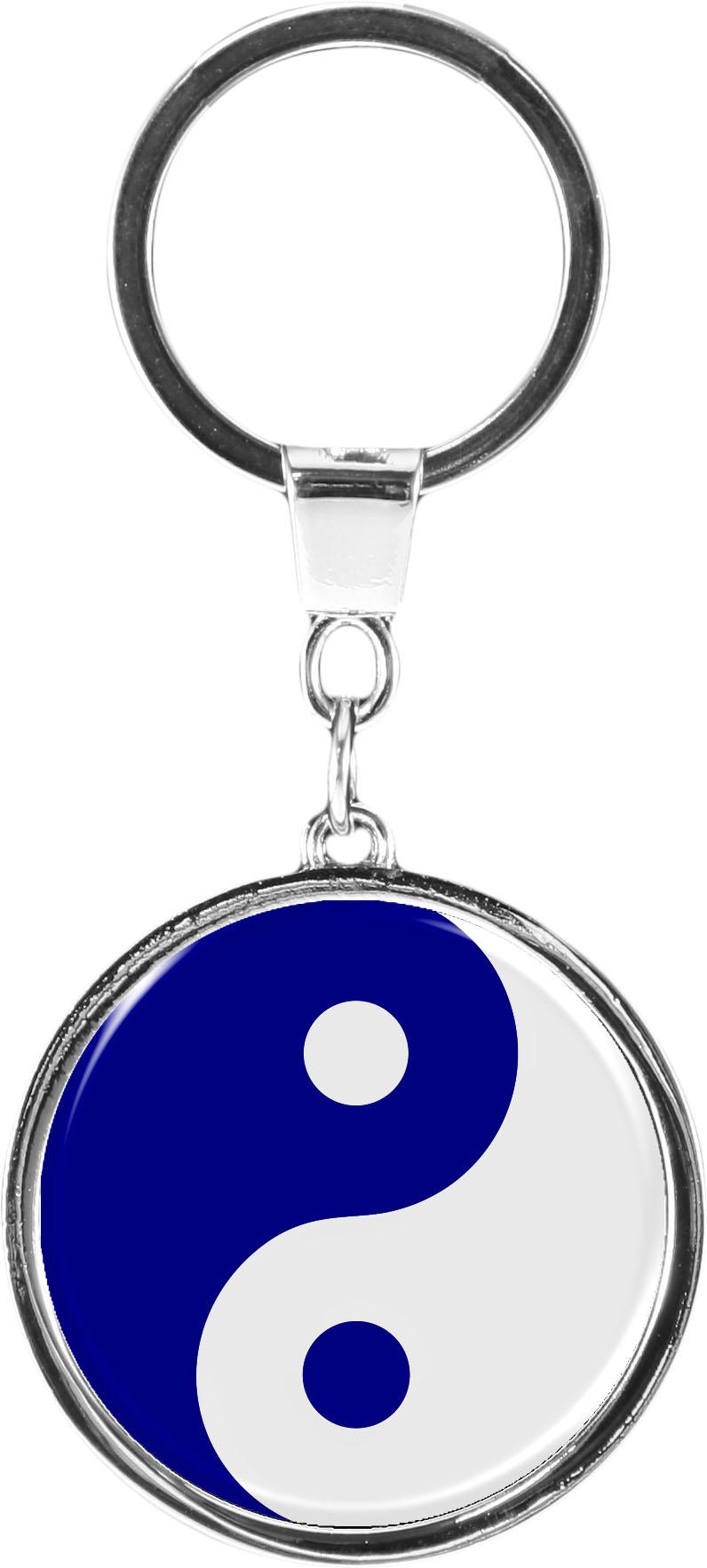 """metALUm Schlüsselanhänger in runder Form """"Yin Yang"""""""