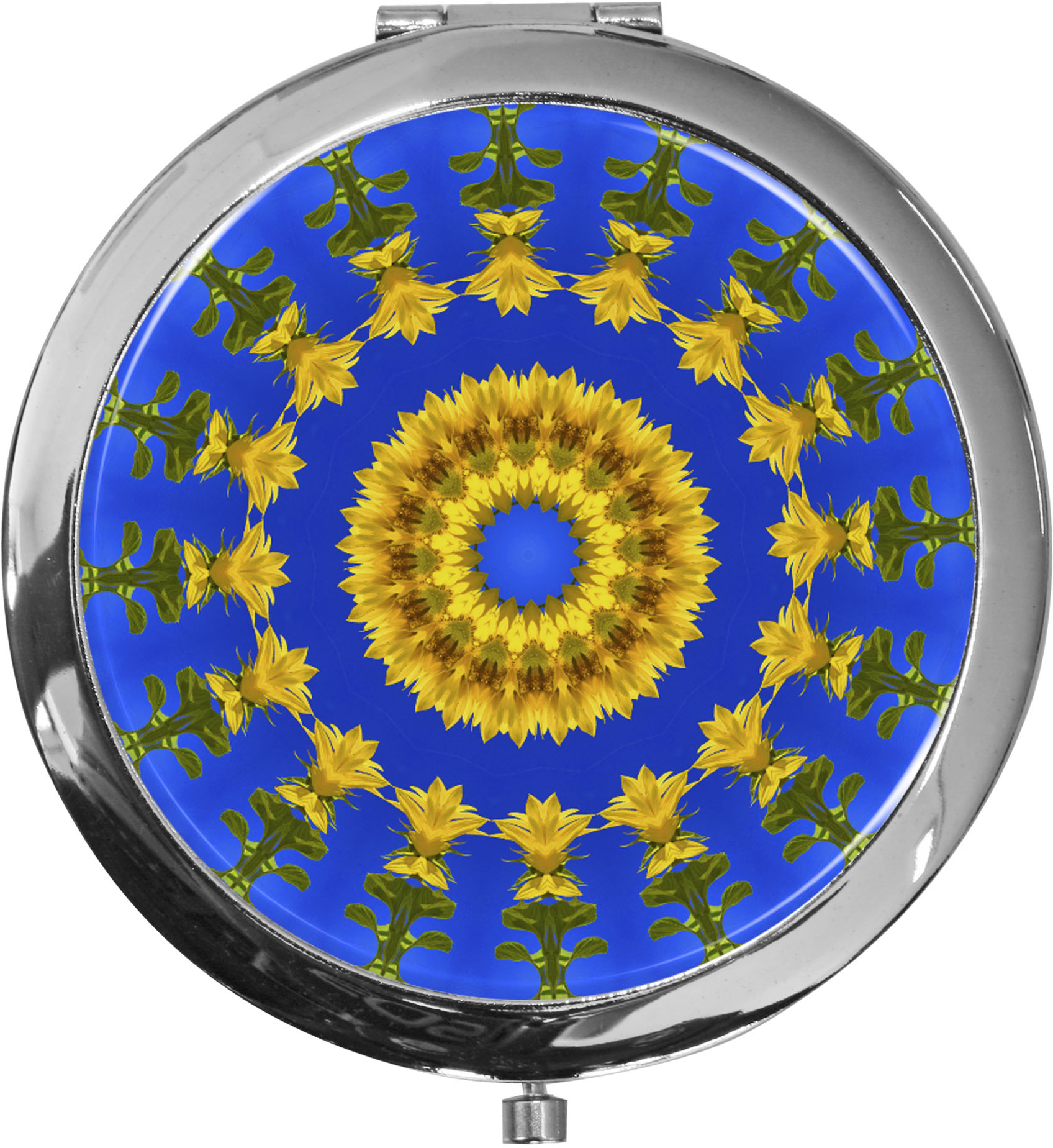 Taschenspiegel / Spiegel / Sonnenblumen / 2 fache Vergrößerung