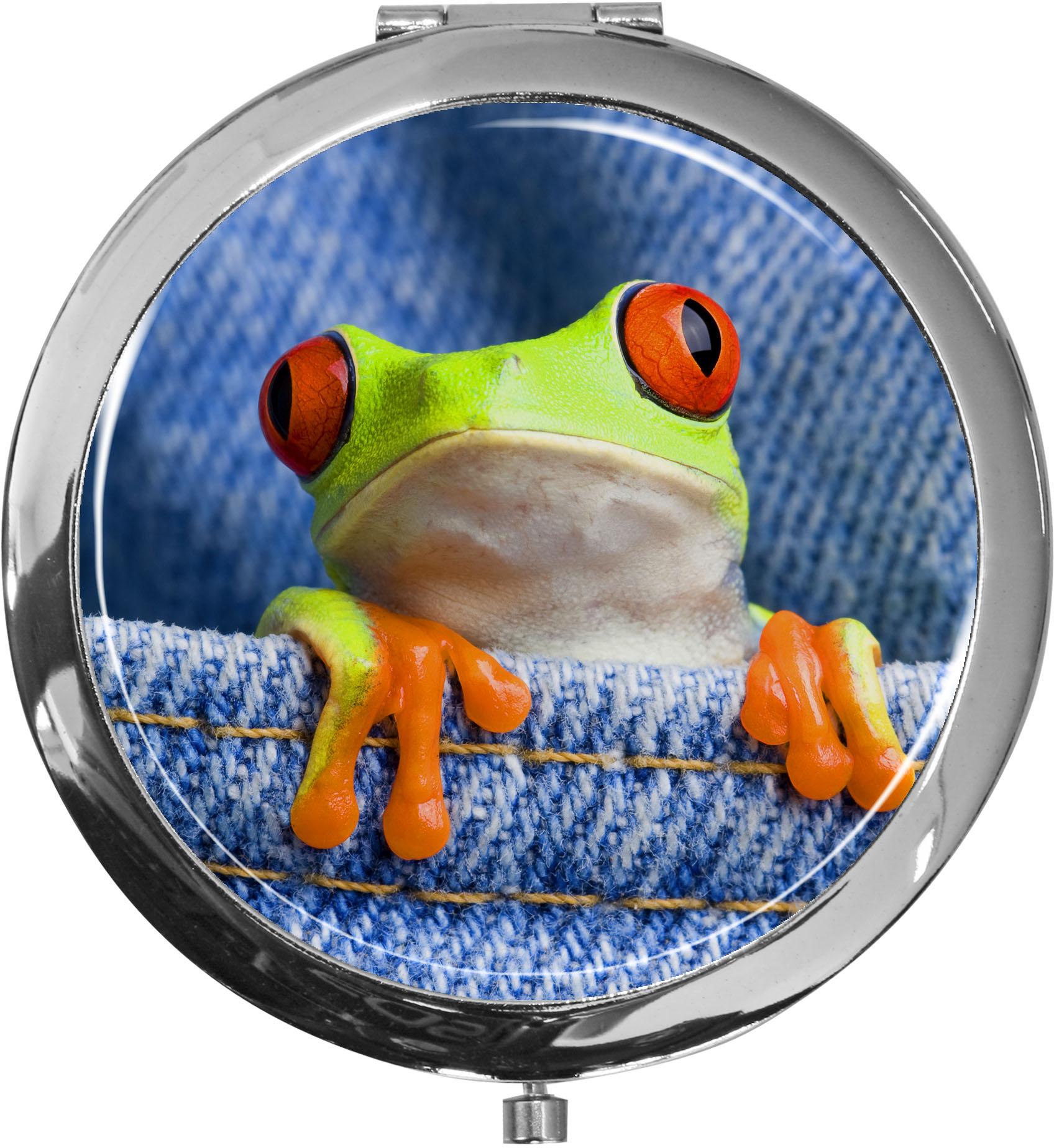Taschenspiegel / Spiegel / Frosch / 2 fache Vergrößerung